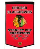 """Chicago Blackhawks 24""""x36"""" Wool Dynasty Banner"""