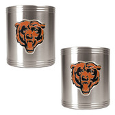 Chicago Bears 2pc Stainless Steel Can Holder Set