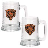 Chicago Bears 2pc Glass Tankard Set