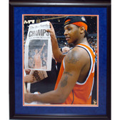 Carmelo Anthony 8414 Framed Unsigned Syracuse Holding Champs Paper 16x20 Photograph