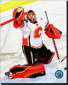 Calgary Flames Jonas Hiller 2014-15 Action 16x20 Stretched Canvas