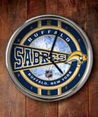 Buffalo Sabres Chrome Clock