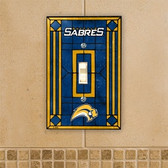 Buffalo Sabres Art Glass Switch Cover