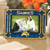 Buffalo Sabres Art Glass Horizontal Picture Frame