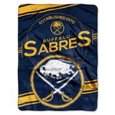 "Buffalo Sabres 60""x80"" Royal Plush Raschel Throw Blanket - Stamp Design"