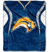 "Buffalo Sabres 50""x60"" Royal Plush Raschel Throw Blanket - Jersey Design"