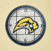 "Buffalo Sabres 12"" Art Glass Clock"