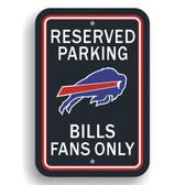 Buffalo Bills Plastic Parking Sign - Reserved Parking