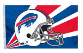 Buffalo Bills 3'x5' Helmet Design Flag