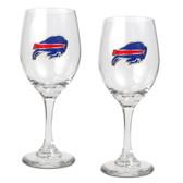 Buffalo Bills 2pc Wine Glass Set