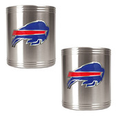 Buffalo Bills 2pc Stainless Steel Can Holder Set