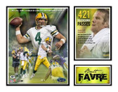 Brett Favre Green Bay Packers 421 Touchdowns Matted Photo
