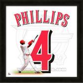 Brandon Phillips Cincinnati Reds 20x20 Framed Uniframe Jersey Photo 2