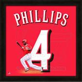 Brandon Phillips Cincinnati Reds 20x20 Framed Uniframe Jersey Photo 1
