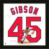 Bob Gibson St. Louis Cardinals 20x20 Framed Uniframe Jersey Photo