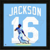 Bo Jackson Kansas City Royals 20x20 Framed Uniframe Jersey Photo