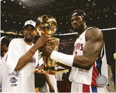 Ben Wallace Rip Hamilton 2004 NBA Champions 8x10 Photo