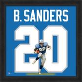 Barry Sanders Detroit Lions 20x20 Framed Uniframe Jersey Photo
