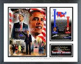 Barack Obama Inauguration Milestones & Memories Framed Photo