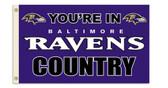 Baltimore Ravens 3 Ft. X 5 Ft. Flag w/Grommets 94131B