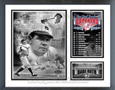 Babe Ruth New York Yankees Captain Milestones & Memories Framed Photo