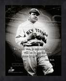Babe Ruth New York Yankees 11x14 Framed ProQuote Photo #3