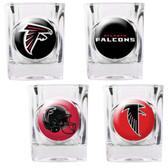 Atlanta Falcons 4pc Collector's Shot Glass Set