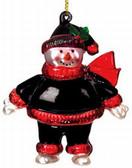 "Atlanta Falcons 2 3/4"" Crystal Snowman Ornament"