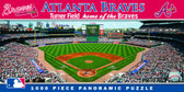 Atlanta Braves Panoramic Stadium Puzzle