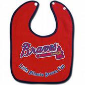 Atlanta Braves Baby Bib - Two-Toned Snap