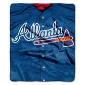 "Atlanta Braves 50""x60"" Royal Plush Raschel Throw Blanket - Jersey Design"