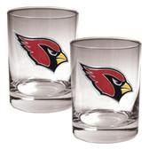 Arizona Cardinals 2pc Rocks Glass Set