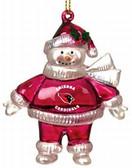 "Arizona Cardinals 2 3/4"" Crystal Snowman Ornament"