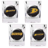 Anaheim Ducks 4pc Square Shot Glass Set