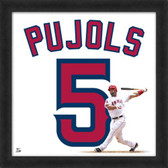 Albert Pujols Los Angeles Angels 20x20 Framed Uniframe Jersey Photo