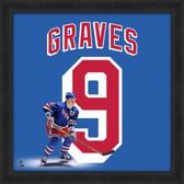 Adam Graves New York Rangers 20x20 Framed Uniframe Jersey Photo
