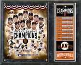 2014 World Series Champions San Francisco Giants Composite Plaque