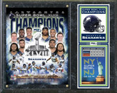"2014 Seattle Seahawks Super Bowl XLVIII Champions Composite Plaque 15"" x 12"""