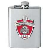 Ohio State Buckeyes 2014 National Champions Flask