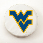West Virginia Mountaineers White Tire Cover, Small