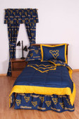West Virginia Bed in a Bag King - With Team Colored Sheets
