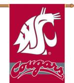 "Washington State Cougars 2-Sided 28"" x 40"" Banner w/ Pole Sleeve"