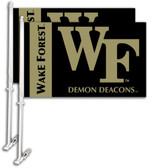 Wake Forest Car Flag w/Wall Bracket Set Of 2