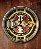 Southern Miss Golden Eagles Chrome Clock