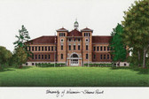 University of Wisconsin, Stevens Point Lithograph