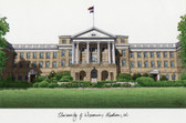 University of Wisconsin, Madison Lithograph