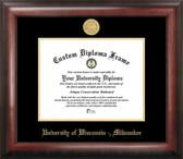 University of Wisconsin Milwaukee Gold Embossed Medallion Diploma Frame