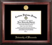University of Wisconsin Madison Gold Embossed Medallion Diploma Frame