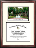 University of Miami Scholar Framed Lithograph with Diploma