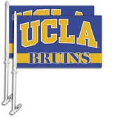 UCLA Bruins Car Flag w/Wall Bracket Set Of 2